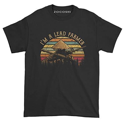 Zocoshi Men's I'm A Lead Farmer T-Shirt (L, Black)