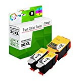 TCT Compatible Ink Cartridge Replacement for Kodak 30XL 30 XL High Yield Works with Kodak ESP C110 C310 C315, Office 2150 Printers (Black, Tri-Color) - 3 Pack