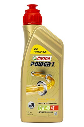 Castrol 15043E Aceite DE Motor Power 1 4T 10W40 1 Litro, Dorado, 1L
