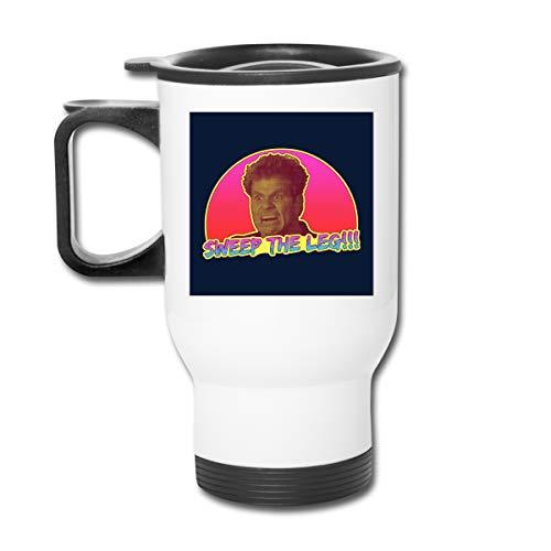 Karate Kid Sweep The Leg - Tazza da caffè con doppia parete sottovuoto, con coperchio a prova di schizzi, per bevande calde e fredde