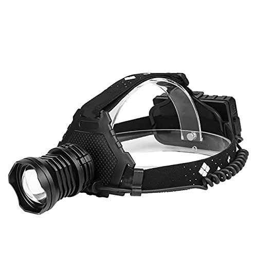 markc Faros delanteros potentes y de alto brillo Pantalla de potencia de carga USB con salida Zoom retráctil Faros delanteros LED 1500 lúmenes Faros delanteros recargables Adecuado para acampar y al a