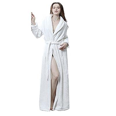Flannel Home Bathrobe Thick Slightly Woman/Man's Couple Pajamas Robe