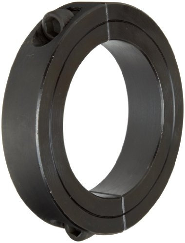 Climax Metal 2C-068 Steel Two-Piece Clamping Collar, Black Oxide Plating, 11/16