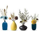 Small Ceramic Flower Vases Set of 4, Bud Vase, Decorative Modern Floral Vase