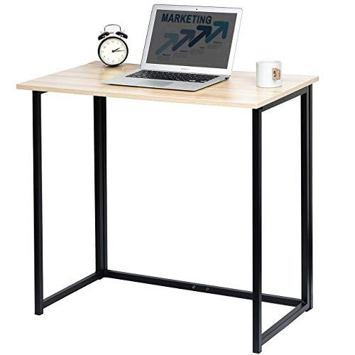 KINWELL 折りたたみ デスク テーブル 組立不要 パソコンデスク 作業台 ナチュラル 幅80cm ナチュラル
