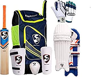 SG Cricket Kit Full Set for Adults with Ezeepak Bag with Fast Delivery RSD Spark Kashmir Willow Bats+Batting Leg Guard Pad...