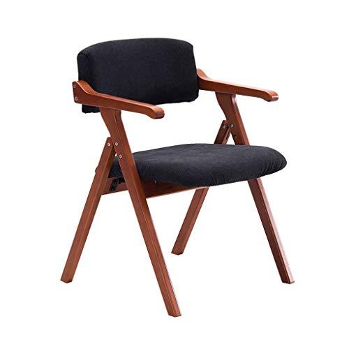 Chaise pliante en bois massif Chaise à manger Fauteuil Accueil Restaurant Bureau Balcon Chaise Réunion Loisirs Chaise/Bleu Foncé Droite Grain/Charge maximale 200KG