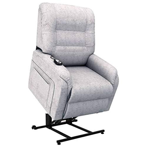 Irfora Aufstehsessel Fernsehsessel Relaxsessel Elektrischer TV Sessel mit Aufstehhilfe Liegefunktion Liegesessel Relaxliege Wohnzimmer Ruhesessel, Hellgrau Stoff