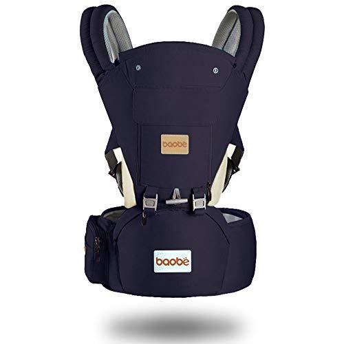 Arkmiido Babytrage ergonomisch mit hüftsitz,verstellbar für Neugeborene & Kleinkinder ,Kindertrage Rückentrage Hüfttrage für alle Jahreszeite träge (Marine)