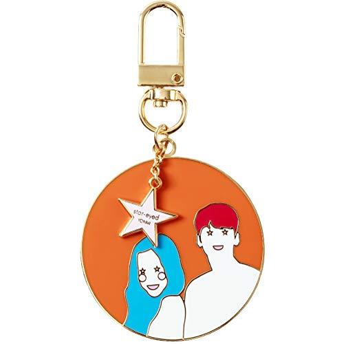 YONMI K-drama - Llavero de metal con mosquetón para llave de coche - naranja - Medium