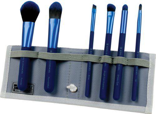 Royal Brush Moda Total Face Cosmetic Brush Set and Case, Blue by ROYAL BRUSH