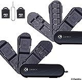 Set di 2 Custodie Porta Scheda di Memoria – 2x Lettori Micro SD (USB) – 1x Pin di Estrazione - Design Stile Coltellino Svizzero - 5x SD, 8x Micro SD, 1x Mini SIM, 1x Micro SIM e 1x Nano SIM
