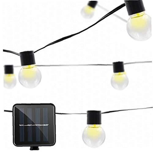 La secuencia solar luces LED solares 5.3m 20 Globe cadena luces impermeable al aire libre luces de cadena de bolas de cristal para el patio de jardín del patio Partido Bistro Gazebo Pergola boda bla