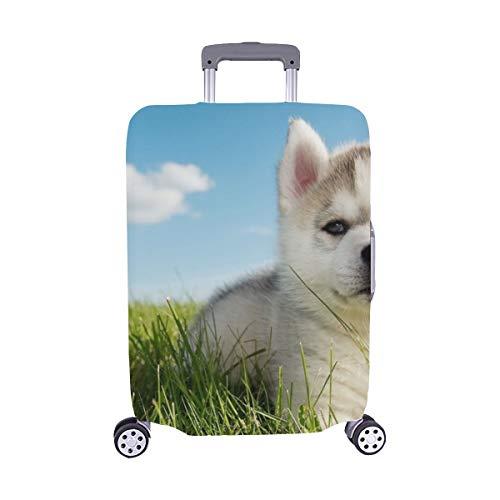 (Solo Cubrir) One Little Puppy Siberian Husky Maleta con Ruedas Maleta Protectora de Viaje Maleta Cubierta Protectora para 28.5 X 20.5 Inch