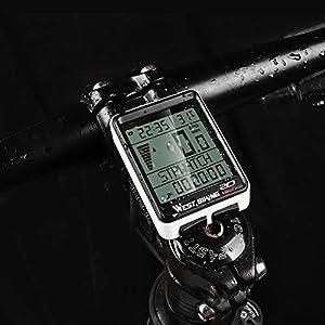 Bostar Ciclocomputador Inalámbrico para Bicicleta, Velocímetro de Bicicleta de Retroiluminación, 5 Idiomas Impermeable Cuentakilómetros para Bicicleta