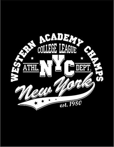 【ニューヨーク ロゴ】 余白部分にオリジナルメッセージお入れします!ポストカード・はがき(黒背景)