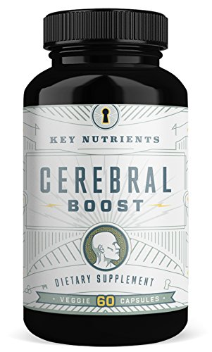 Brain Support Supplement, Cerebral Boost: Aids with Memory, Focus & Clarity. Contains DMAE, Rhodiola Rosea, Gingko Biloba, phosphatidylserine & More. (1)