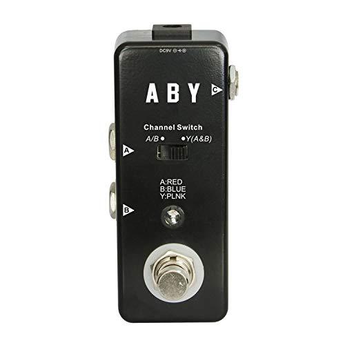 Ouqian-MI Gitarren Effektpedal Mini-A/B-Box-Pedal ABY-Kanalschalter Gitarren-Effektpedal Hochleistungs-Fußschalter Loop Core Gitarren-Effektpedal (Farbe : Schwarz, Größe : Free Size)