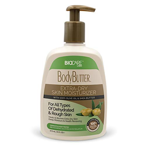 BioCare Labs Moisturizing Body Butter - Body Cream With Natural Shea Butter, Olive Oil, and Vitamin E - Instantly Penetrates and Deeply Renews Skin - Lotion Designed For Dry Skin