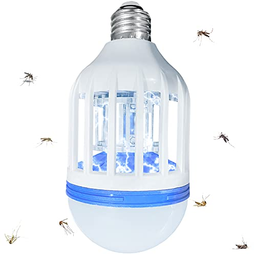 Bug Bulb Zapper Mosquito Lamp, Fly Insect Killer Light- Emitting Flying Insect Trap for Indoor& Outdoor