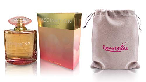 Fascination - Eau De Parfum Spray Perfume, Fragrance For Women- Daywear, Casual Daily Cologne Set with Deluxe Suede Pouch- 3.4 Oz Bottle- Ideal EDP Beauty Gift for Birthday, Anniversary
