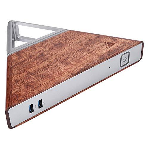 Goshyda Mini PC, 8GB RAM 64GB EMMC + 128GB SSD N3450 Mini computadora de Cuatro núcleos, HDMI + RJ45 + USB3.0 + Interfaces de Audio de 3.5MM, WiFi de Doble Banda, BT4(EU)