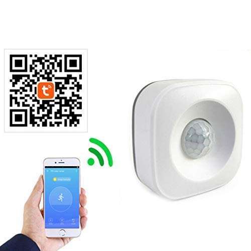 karrychen WiFi Smart Home PIR Motion Sensor Wireless Infrared Detector Security Burglar Alarm System for Home Office Use Supplies