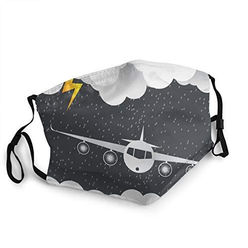 Antokos Das Flugzeug fliegt durch Wolken, waschbar, wiederverwendbar, bequem, Mundschutz, bedruckt, Grafik