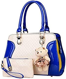 Women Ladies' Tote Bags Patent Leather Lady's handbag With Toys