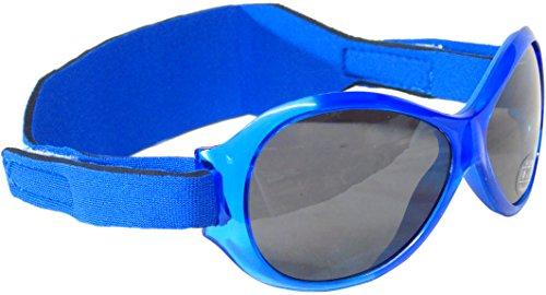 Eseno Limited Edz Kidz Sunnyz Sonnenbrille für Babys unter 2 Jahren Mit Kopfband! (Blau Dinosaurier)