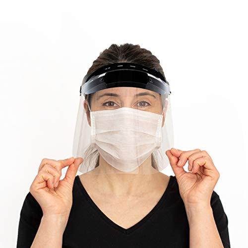 7M Gesichtsschutzvisier aus Kunststoff | Face Shield in Schwarz | Visier Gesichtsschutz für Erwachsene | Schutzschild für das Gesicht (1)
