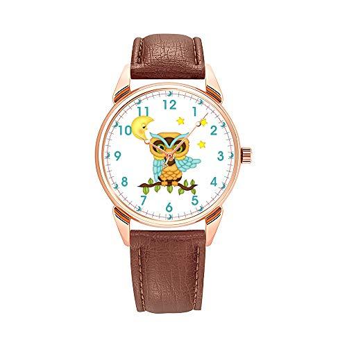 Reloj de hombre de cuarzo impermeable, reloj de hombre, color marrón, reloj de piel, reloj con monociclo