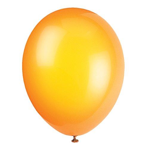 Unique Party-Globos de Fiesta de Látex, 50 Unidades, color (citrus orange), pack of 50 (56847)