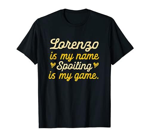 Lorenzo is My Name Divertido Primer Nombre Humor Apodo Camiseta