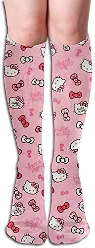 v-kook-v Kniestrümpfe Hello Kitty Funny Dress Socks für Mädchen Frauen