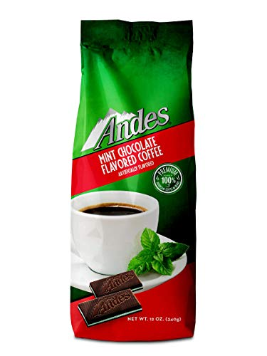 Andes Coffee Flavored Ground Coffee Bag Premium Arabica, Chocolate Mint, 12 Ounce