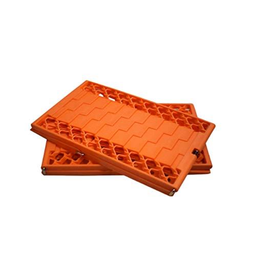 Wakauto Auto Schnee Schlamm von Platte Faltbare Rutschplatte Reifen rutschfeste Matte Sand Schnee Kettenrad Anti-Rutsch-Reifen Snowboarden (orange)