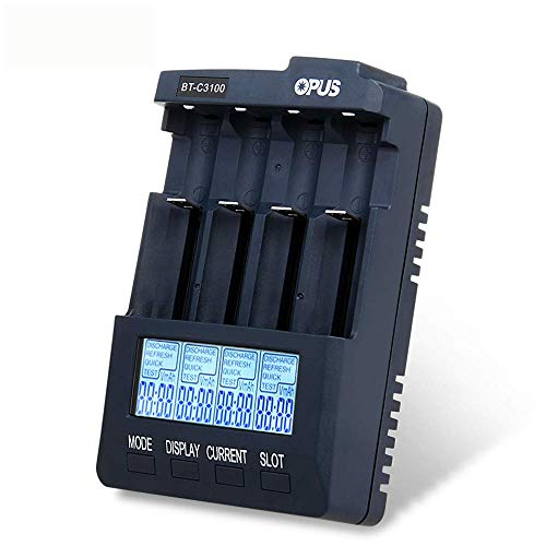 OUYAWEI Opus BT-C3100 V2.2 Digital Intelligent 4 Slots AA/AAA LCD Battery Charger US Plug