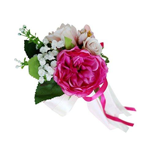 Encaje de Flor para Casamiento Adorno de Coche - Rosa, 36 x 15 x 8cm