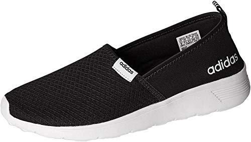 adidas Women's Cloudfoam Lite Racer Slip-On, Core Black/White, 7 B