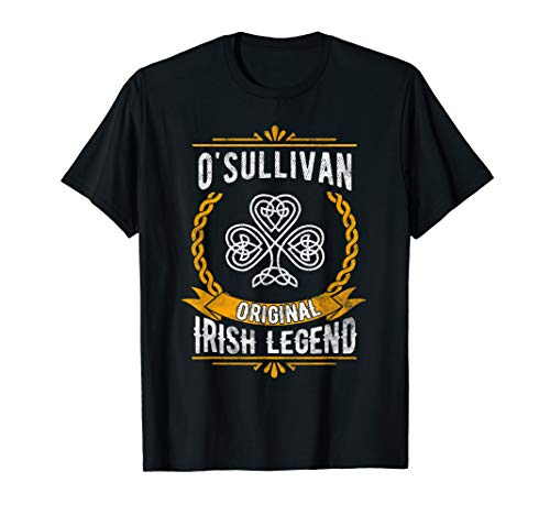 OSullivan Irish Surname T-Shirt Vintage Celtic Legend