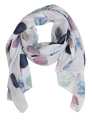 Cashmere Dreams Sciarpa di seta per donna con stampa a pois di 'Zwillingsherz' / Elegante accessorio per donna può anche essere usato come sciarpa/sciarpa di seta/sciarpa/tracolla o fascia
