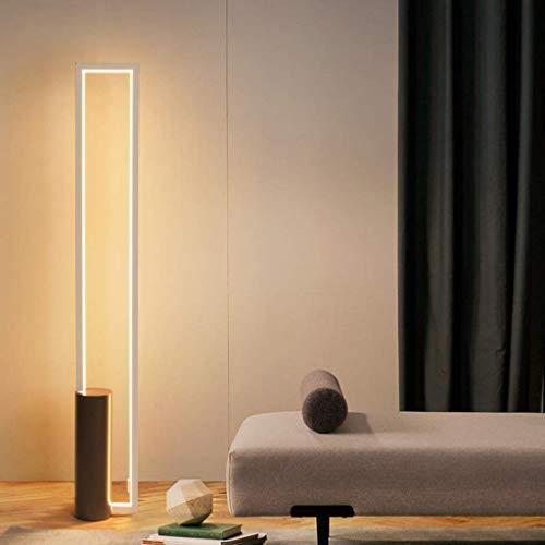 YXYOL Moderne rechteckige LED Stehleuchte mit Dimmbare Fernbedienung, Moderne kreative Büroleuchte Innenstehleuchte Wohnzimmer Study Schlafzimmer Leselampe, 38W