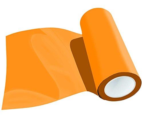 (29,80 EUR/m2) Poli-Flex Premium Flexfolie Meterware 30,5 cm 41 kleuren textielstrijkfolie neonoranje