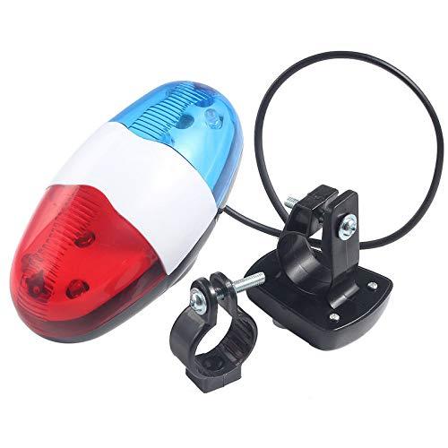 ADHG più Sicuro Campanello per Bicicletta 6 LED 4 Toni avvisatore Acustico per Bici Chiamata in Bici LED Luce per Polizia Luci elettroniche per Scooter elettriche MTB Accessori Bici