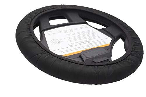 CartSkinz Anti-Microbial Neoprene Golf Cart Steering Wheel Cover (Black)