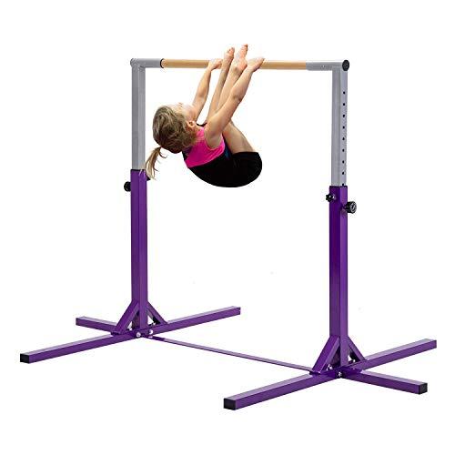 Gymnastic Bar Horizontal Training Pull Chin Up Adjustable Kids Kip Home Gym...
