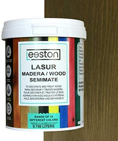 Pintura lasur para maderas, tratamiento para exterior e interior, fácil aplicación y limpieza gracias a su base al agua, acción protectora a largo tiempo, 14 colores (0,75 L, Bronce)