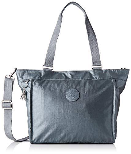 Kipling New Shopper S, Borsa Donna, Grigio (Steel Gr Metal), 42x27x13 centimeters (B x H x T)