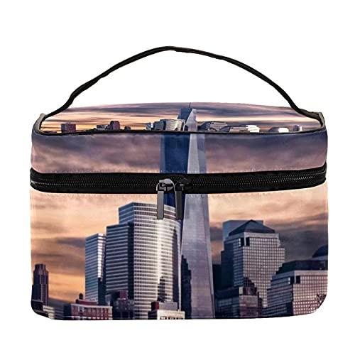 Patrón de gato bolsa de cosméticos impermeable 22.5x15x13.8cm/8.9x5.9x5.4in bolsa de maquillaje bolsa monedero bolsa organizador cosmético